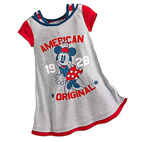 Disney Minnie Mouse Americana Nightshirt for Girls Size 2