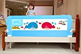 Kiddale Bedrail : Extra Long (6X2.2 Ft) Foldable Safety Guard For Baby And Kids Products-Blue