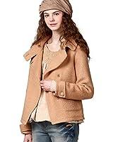 Artka Women's Winter Lapel Embroidered Short Wool Jacket