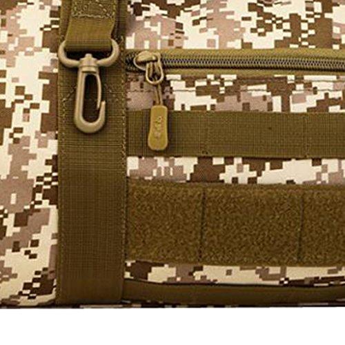 Gazechimp Taktische Sporttasche Reisetasche Großräumige Handtasche Schultertasche für Reise Urlaub Duffle Bag Handgepäck Desert Digital