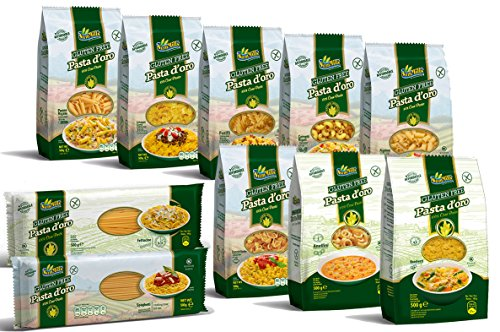 Pasta d\'oro Kennenlernpaket - 10 x 500 g glutenfreie Nudeln aus Maismehl