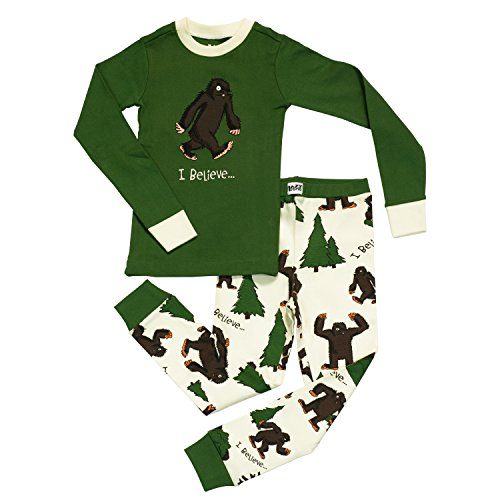 Lazy One LazyOne Boys I BelieveÂ…Bigfoot Kids PJ Set Long Sleeves