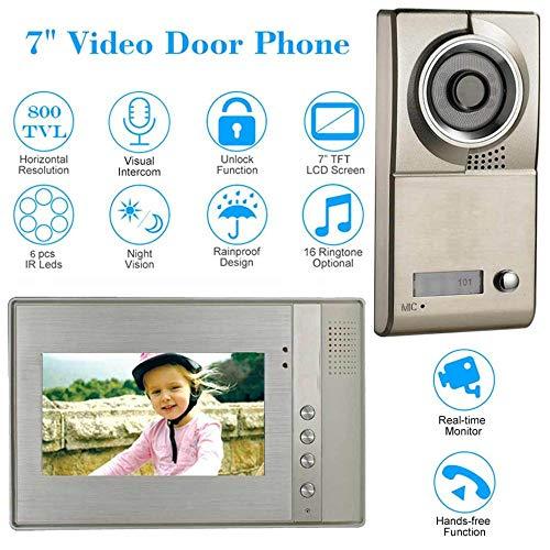 KAIDILA Digitale Tür Viewer Kamera Home Security 7 Zoll TFT LCD Monitor Video Telefon Türsprechanlage Zweiwege-Audio entsperren IR N Ight Vision-Kamera Lcd Security Monitor