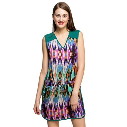 Oxolloxo Women's Printed Dress  available at amazon for Rs.358