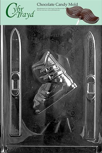 Cybrtrayd S005 Sports Chocolate Candy Mold, Skis and Boots by CybrTrayd (Mold Candy Boot)