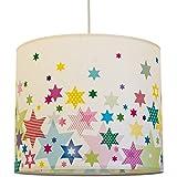 anna wand Lampenschirm STARS 4 GIRLS - Schirm für Kinder/Baby Lampe mit Sternen in versch. Farben – Sanftes Licht für Tisch-, Steh- & Hängelampe im Kinderzimmer Mädchen & Junge
