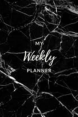 My Weekly Planner - (Black Marble) Daily Planner / Appointment
