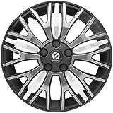 ASD TECH SP 1550X Pack de 4 Enjoliveurs Design Sparco Xtraleggera 15'' Noir/Gris/Argent