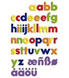 Quercetti 5462 - Magnetbuchstaben Zahlen, 40-teilig -
