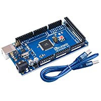 ELEGOO Carte Mega 2560 R3 ATmega2560 ATMEGA 16U2 Board Bleu avec Câble USB pour Arduino (Bleu)