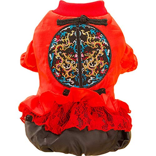 (GJFeng Hund Tang Anzug Rock Haustier Kleidung Pettiskirt Herbst Und Winter Kleiner Hund Teddybär Welpen Welpen Winter Verdickung (größe : L (weight 4-5 kg)))