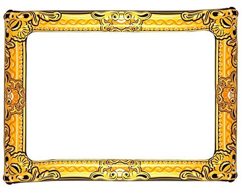 Inflatable Novelty Large Gold Photo Frame 60cm x 80cm