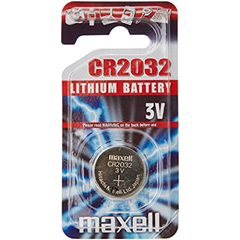 Maxell CR2032 3V - batería Li-Ion, color plateado