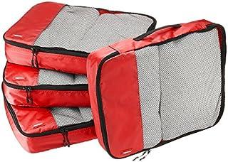 AmazonBasics Lot de 4sacoches de rangement pour bagage TailleL, Rouge (B014VBGWVO)   Amazon Products
