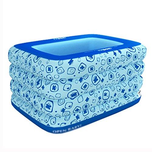 Vasca da bagno gonfiabile lxf piscina gonfiabile vasca da bagno piscina piscina per bambini grande prendere una vasca da bagno bagno nuoto più spessa viaggi portable (colore : blu)