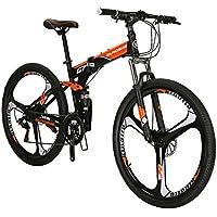 Eurobike G7 - Bicicleta de montaña de 21 velocidades, estructura de acero, ruedas de