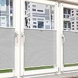 Plissee Rollo Sonnen- und Sichtschutz Klemmfix, ohne Bohren Breite 90 cm Höhe 230 cm in Weiss