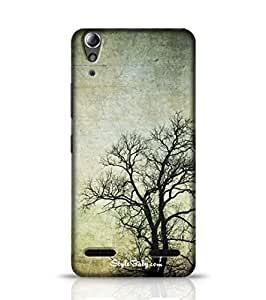 Style baby Grunge Frame With Tree Silhouettes Lenovo A6000 Phone Case