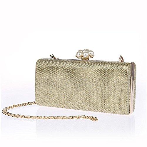 borsa da sera moda/ pacchetto mini party/Mani bead chiusura/Borsa a mano donna-A A