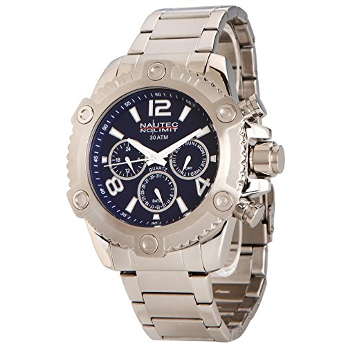 Nautec No Limit Men's Quartz Watch FRBL-QZ-STSTST-BL with Metal Strap