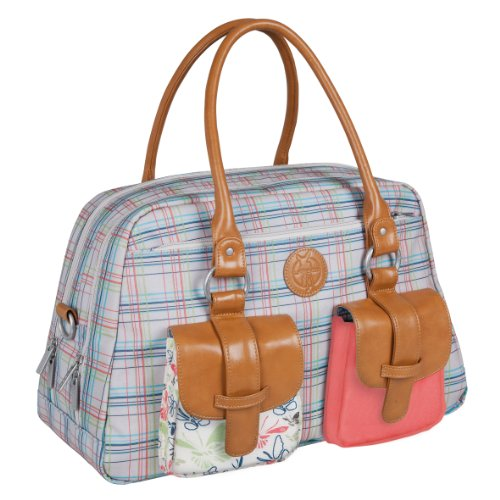 Lässig Vintage Metro Bag Wickeltasche/Babytasche inkl. Wickelunterlage Twill, choco Candy-striped