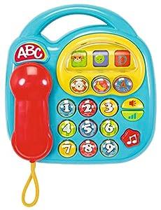 Simba 104012412 - Teléfono ABC con Sonido (Piezas giratorias, 20 x 20 cm) Importado de Alemania