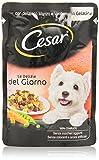 Cesar - Le Delizie del Giorno, Alimento Completo per Cani Adulti con Manzo e Verdure in Gelatina, 100 g