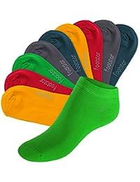 Original footstar SNEAK IT! Sneaker Socken für Sie und Ihn - Viele trendige Farben und Größen 35-50 wählbar! - Qualität von celodoro- 10 Paar