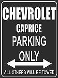 INDIGOS UG Park-chevrolet-caprice Parkplatzschild, Schwarz