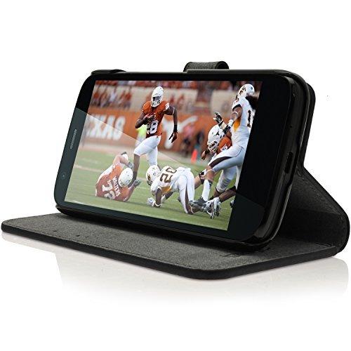 Schwarz Tasche für Handy-Hüllen für Mobiltelefone (Buch, Motorola Moto G XT1032, Schwarz) ()