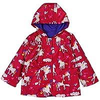ALLLHMKS Horse Pattern Hooded Jacket Raincoat Red Children