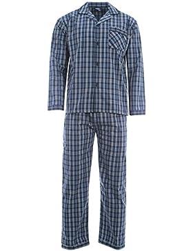 Harvey James Fácil Cuidado Polialgodón Hilo Teñido Hombre Pijama Loungewear M–XXL