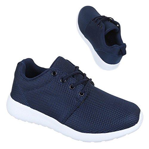 Damen Schuhe Trendige Sportschuhe Freizeitschuhe Dunkelblau