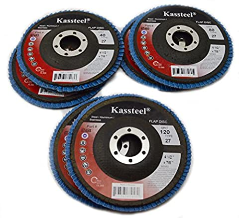 Sungold Abrasives 67533 Type 27 Flap Discs with 4-1/2