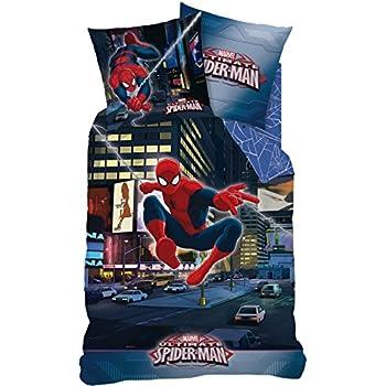Housse de couette Spiderman City pour lit 1 personne
