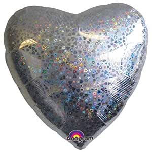 Amscan International 18 Heart Holographic Pattern