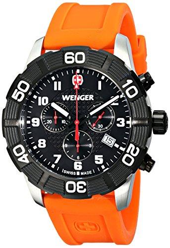 Wenger 010853103 - Reloj de pulsera hombre, silicona, color naranja