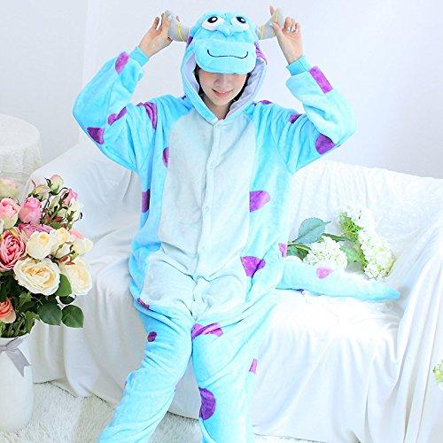 MH-RITA Pijama volle Flanell Schlafanzug Schlafanzug für Frauen Kostüme für Erwachsene nachtwäsche Home für Bekleidung Übergrößen, Sully, (Sully Erwachsene Kostüme)