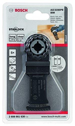 Bosch Professional Tauchsägeblatt Hartholz für Multifunktionswerkzeuge Starlock (5 Stück, AIZ 32 BSPB)