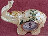 ZO Resin Crafts Exquisite Muster Resin Clock Dekoration Handwerk Geschenk,EIN,14 * 4 * 14,5 cm