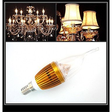 FDH 3W E14 300-350LM Velas LED Bombillas LED de luces(220V),Cool White-Golden