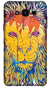 The Racoon Grip printed designer hard back mobile phone case cover for Samsung Galaxy J7. (Lion Water)