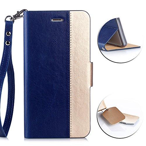 AVIDET Google Pixel XL Hülle - Hochwertiges PU Leder Etui Tasche für Google Pixel XL (Blau)