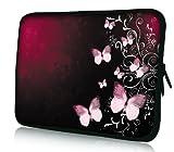 Luxburg® Design Tasche Hülle Sleeve Schutzhülle für Tablet PC 8 Zoll: Apple iPad mini (auch Retina) | Samsung Galaxy Tab 3 (8 Zoll) / Note 8.0 | Intenso TAB814 (8 Zoll) | Asus MeMO Pad 8 | Odys Titan (8 Zoll) | Lenovo IdeaPad Yoga (8 Zoll) | Acer Iconia W3 (8 Zoll) , Motiv: Rosa Schmetterlinge