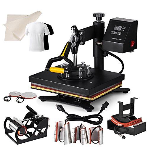 8 IN 1 El calor presiona las máquinas de la prensa del calor del...
