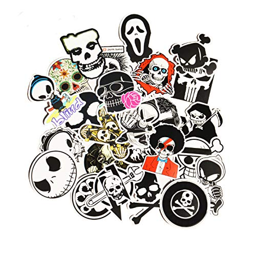 on Skull Devil Cartoon PVC Safe Toys Cool Stickers for Kids Children Luggage Notebook Laptop Sticker Car-Styling ()