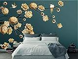 Yosot Kundenspezifisches Modernes Ausgangshintergrund-3D Tapeten-Hand Gezeichnete Blume Und Vogel-Foto-Hintergrund-Wand-Tapete 3D -400cmx280cm