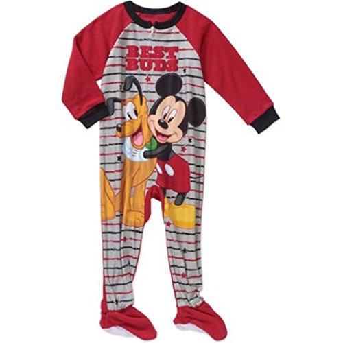 Disney Mickey und Pluto Jungen 4T Fleece Footed Decke Pyjama Schlaf 4t Fleece