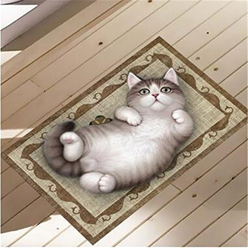 Gaoxu 3D HD impermeable antideslizante autoadhesiva de PVC posted creativo desmontable alfombra animal