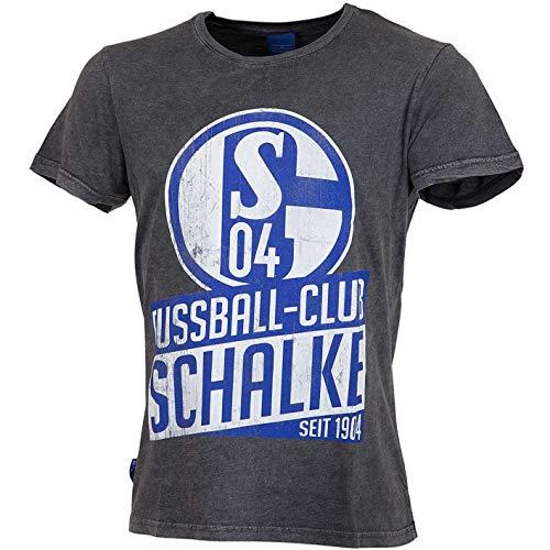 FC Schalke 04Used–Camiseta, Gris, Medium